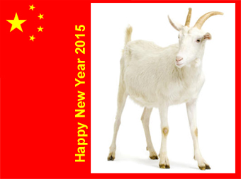 happy new year in the chinese calendar- 2015 the year of the Goat
